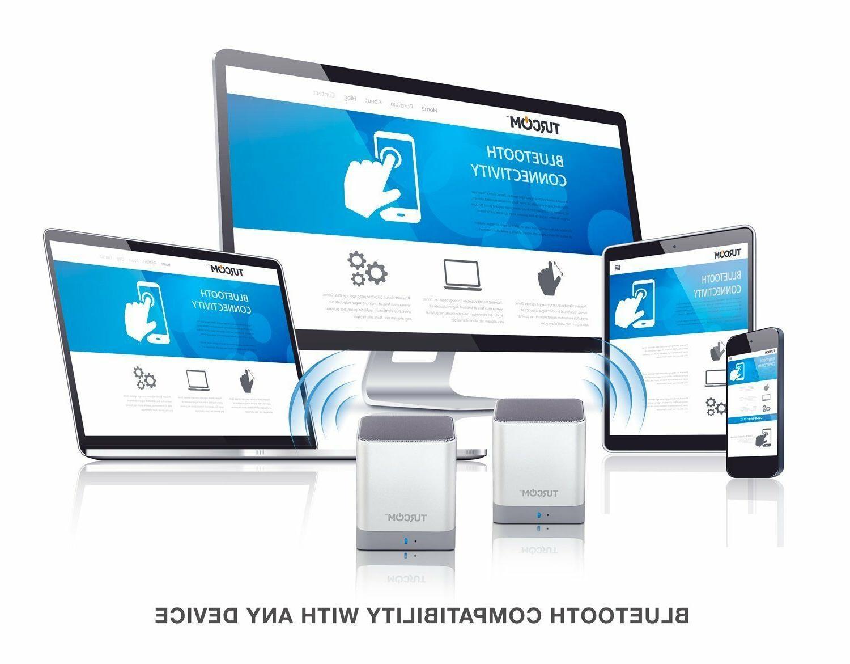 Turcom Desktop Dual Mini Bluetooth Speakers Wireless Speakers
