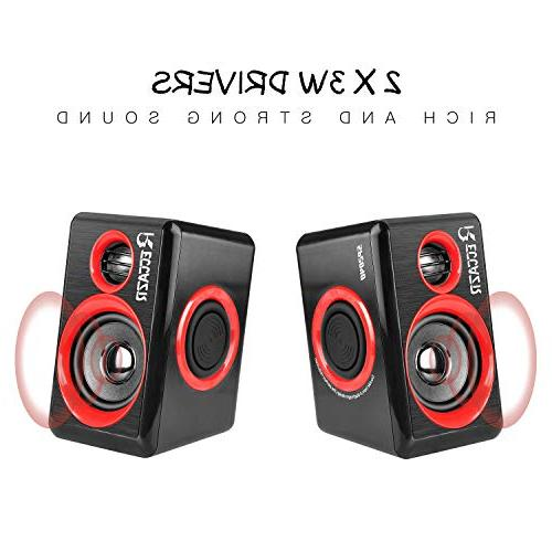 Surround Deep Bass Powered Multimedia for PC/Laptops/Smart RECCAZR Four Loudspeaker