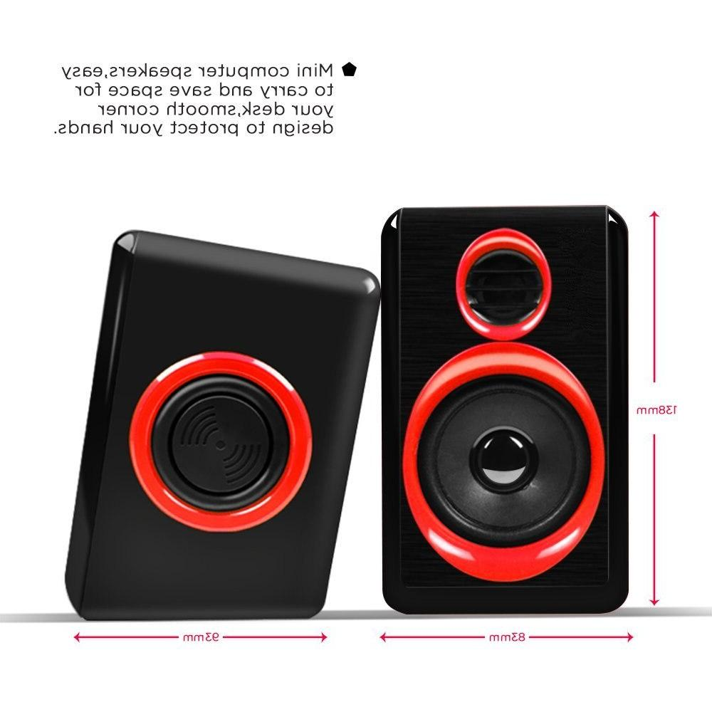 Surround Portable <font><b>Speakers</b></font> With Wired Powered Multimedia Desktop For <font><b>Pc</b></font> Laptops