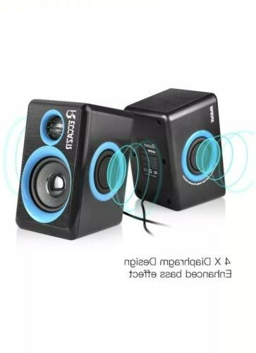 Reccazr Speakers USB PC/Laptop/Phone