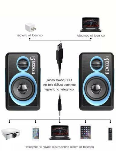 Reccazr Surround Sound Multimedia Speakers USB