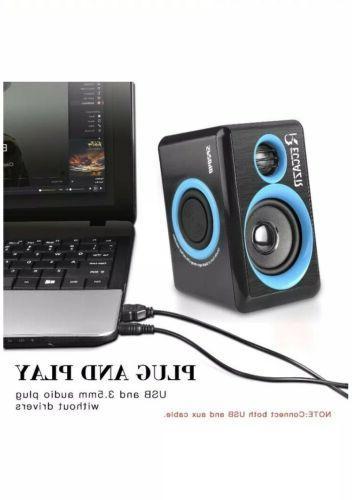Reccazr Surround Speakers USB Powered