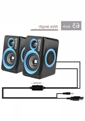 Reccazr Speakers Powered PC/Laptop/Phone