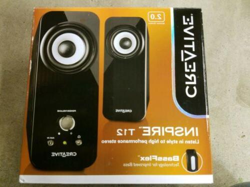 t12 pc speakers 2 0 computer pc