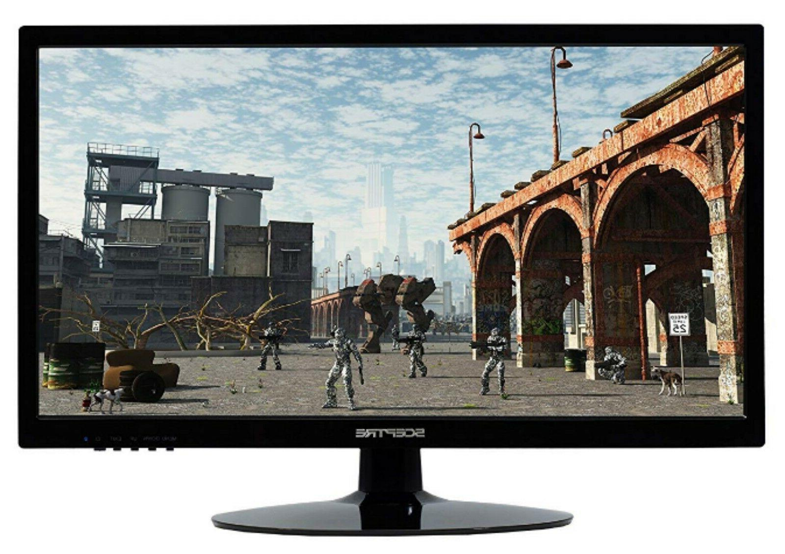 "Ultra Wide Gaming PC 20"" Screen Desktop HDMI DVI with Speakers Stand"
