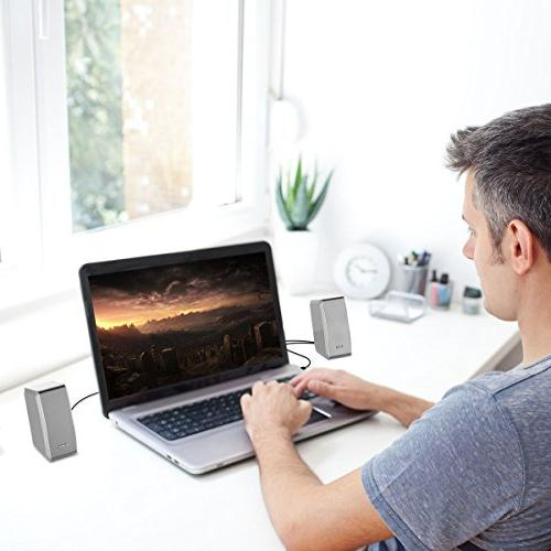 UPGRADED SHARKK 20W Computer Speaker for Computers with