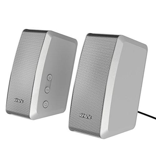 UPGRADED SHARKK DUO 20W Computer Speakers Surround Speaker for Laptops and Cell with