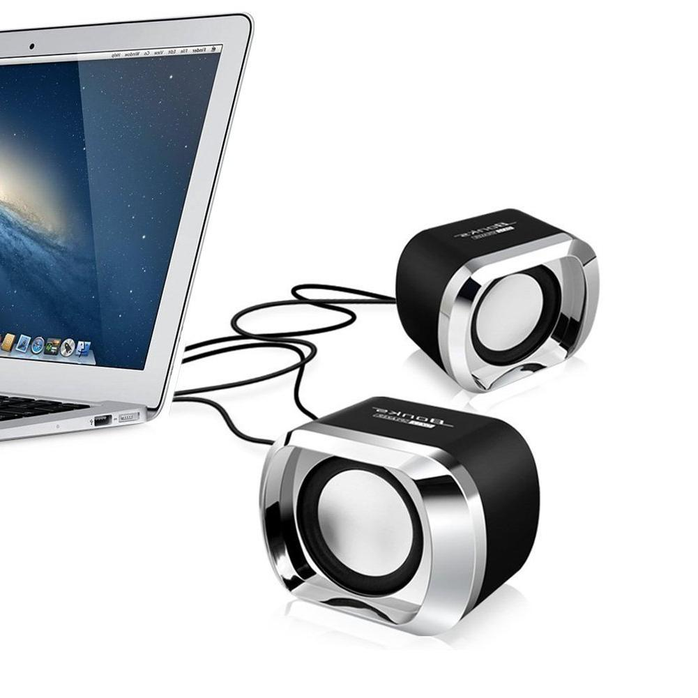 USB 2.0 <font><b>Speakers</b></font> Wired <font><b>Speaker</b></font> for Notebook PC MP4 3.5mm black
