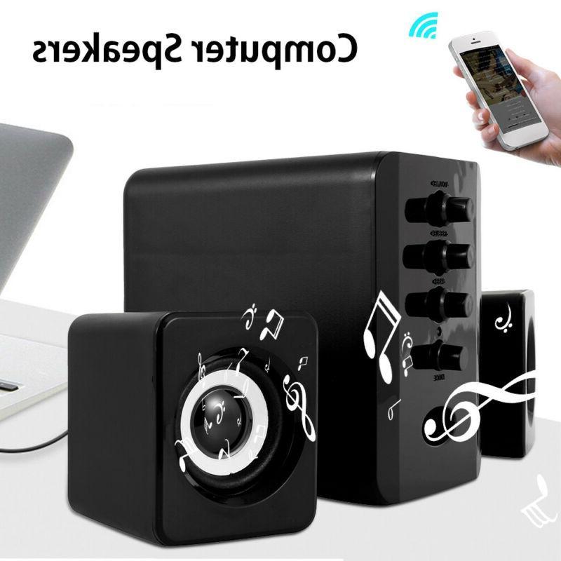usb 2 1 computer speakers system desktop