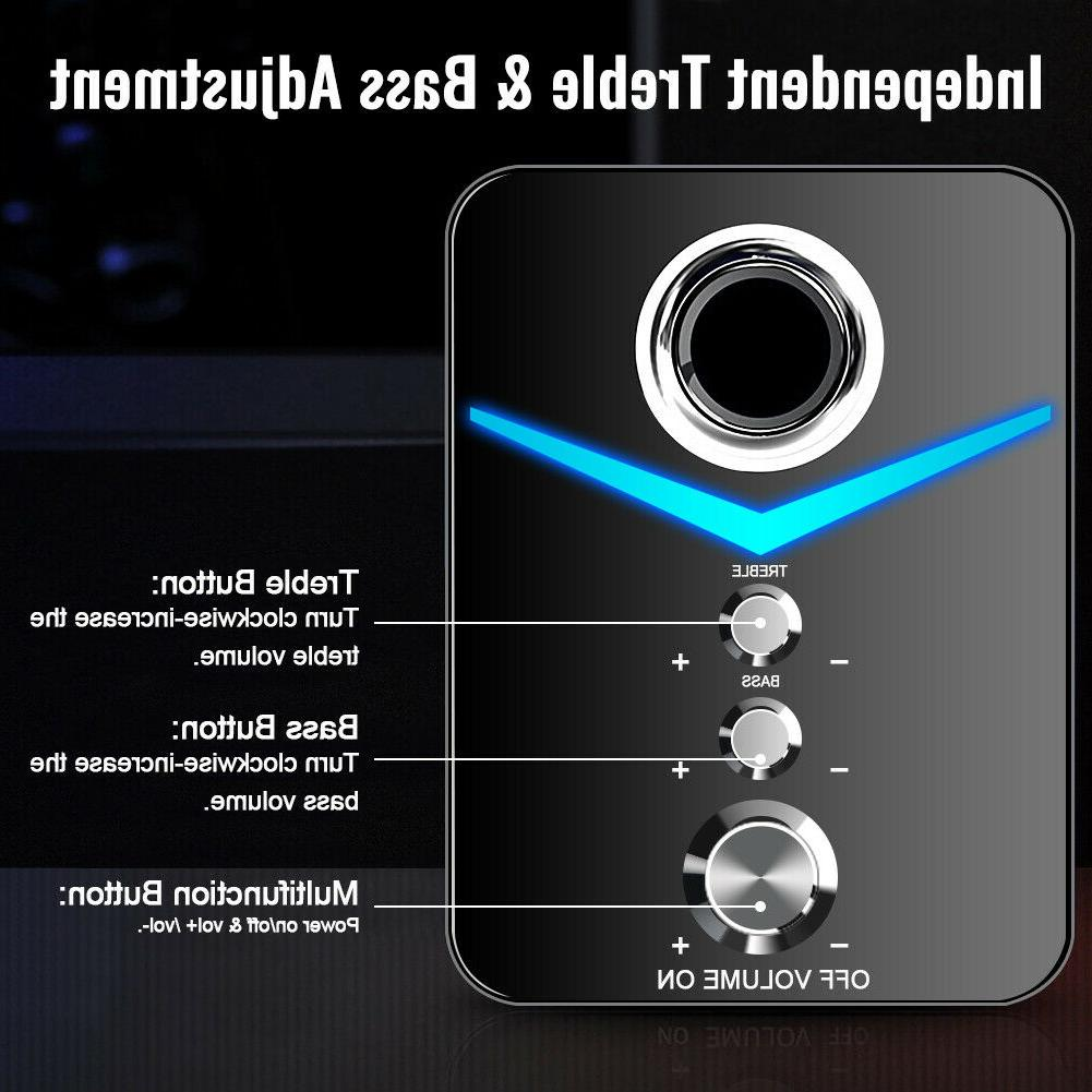 USB 2.1 Computer with Subwoofer,3.5mm Multimedia for