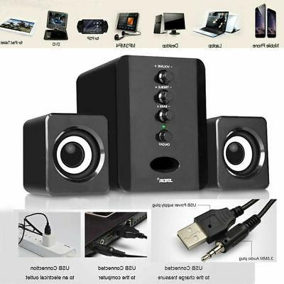 Computer Speakers USB PC Laptop Desktop System with Stereo B
