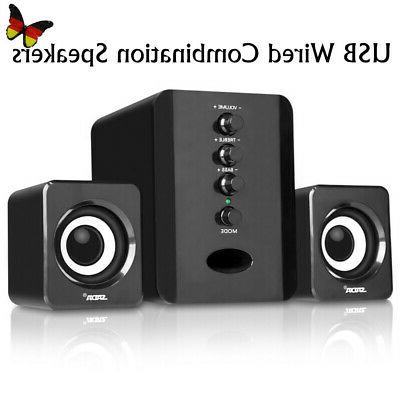 USB Stereo Bass Subwoofer PC