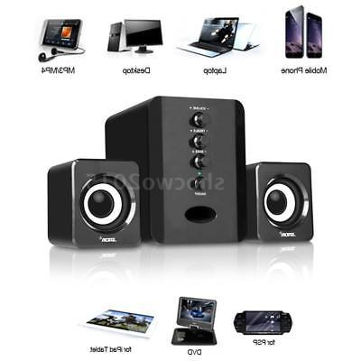 usb computer pc speakers 2 1ch system