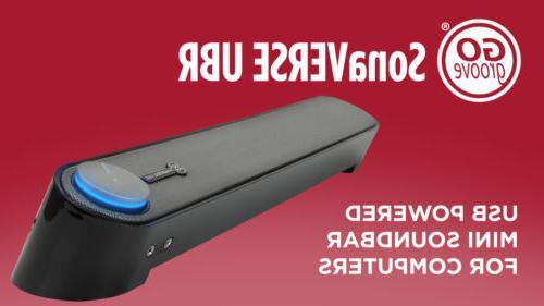 GOgroove Soundbar - SonaVERSE Sound Bar for Computer Powered