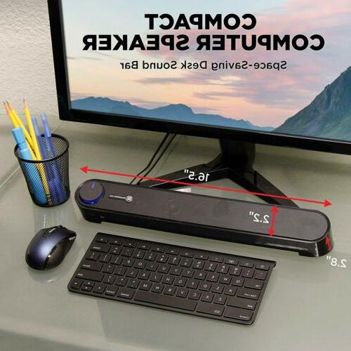 GOgroove USB Computer Soundbar - UBR PC Sound