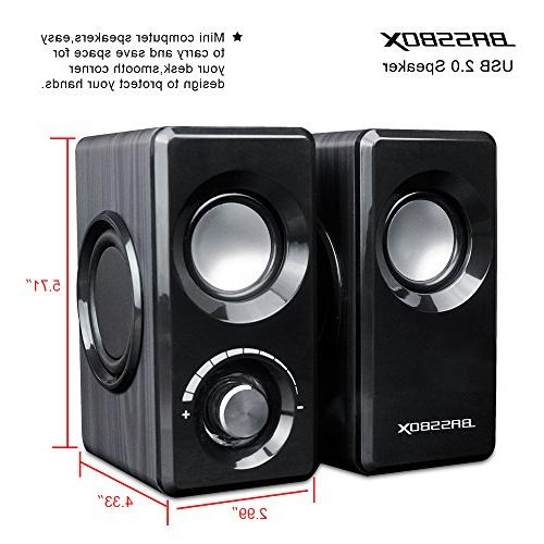 Computer Speakers with Sound for Mac,PC,Laptop,Smart Phone and