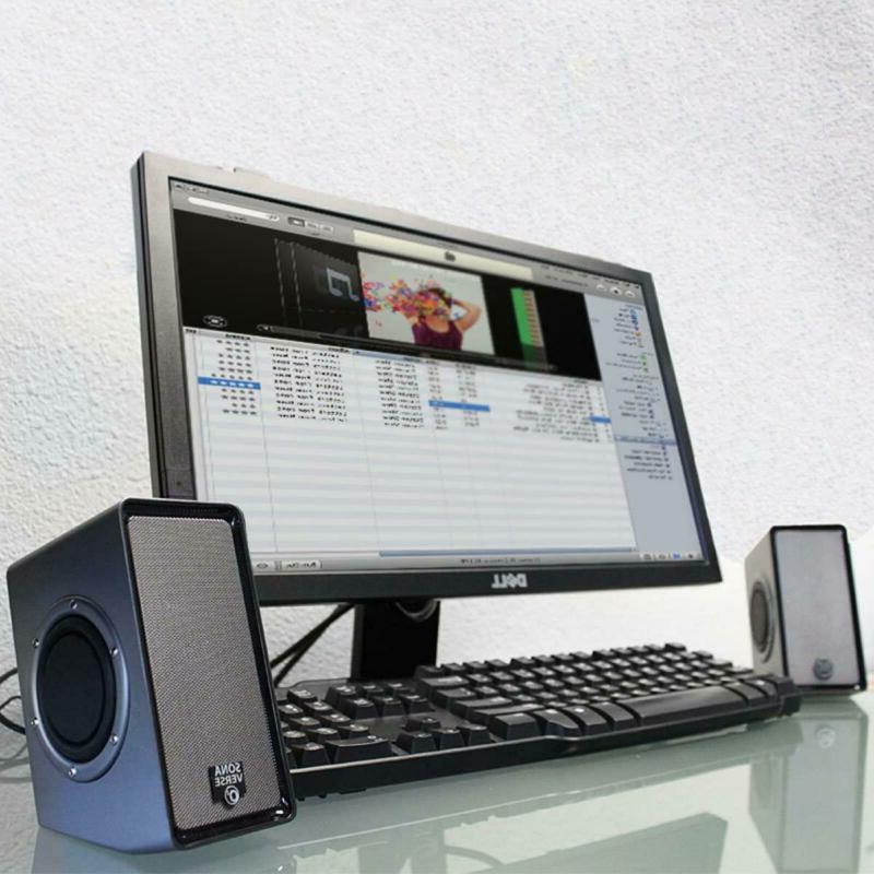 USB Speakers Desktop PC Bar System Audio TV