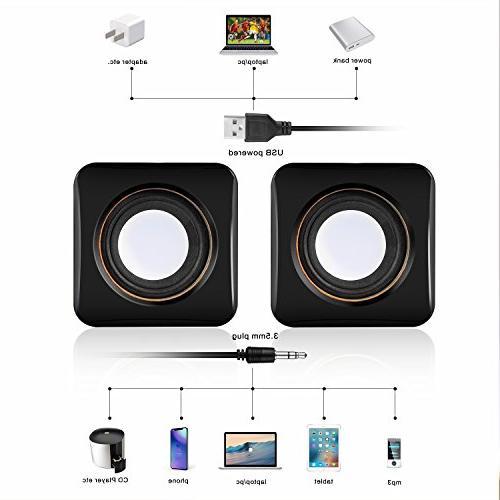 Hoxen USB Computer Speakers, Small Desktop & Speakers