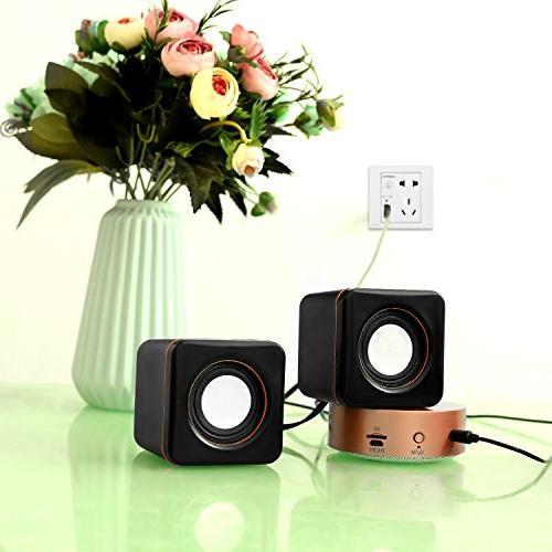 Hoxen USB Computer Small Speakers Laptop Desktop Netbook & PC Speakers