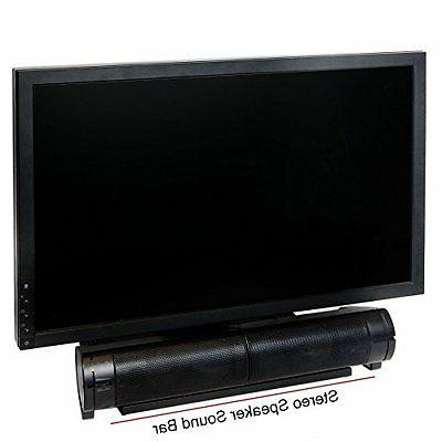 USB Computer Speakers PC Desktop Laptop Stereo Sound Bar for