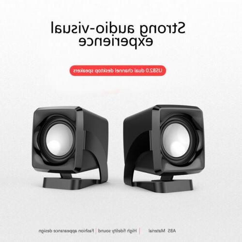 USB Computer Speakers Desktop Stereo Lenovo HP Toshiba