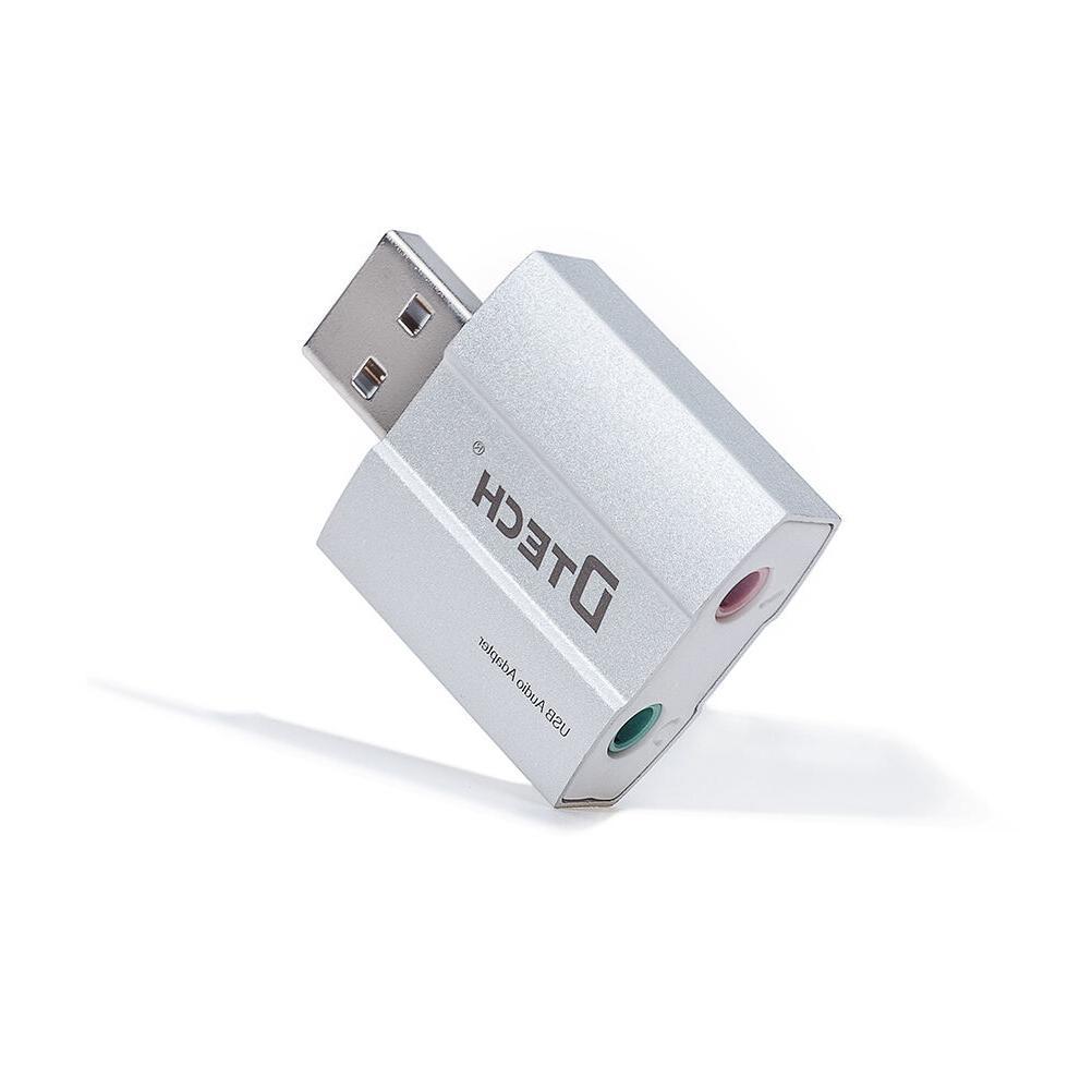 DTECH USB External Sound Card Audio Adapter 3.5mm Headphone