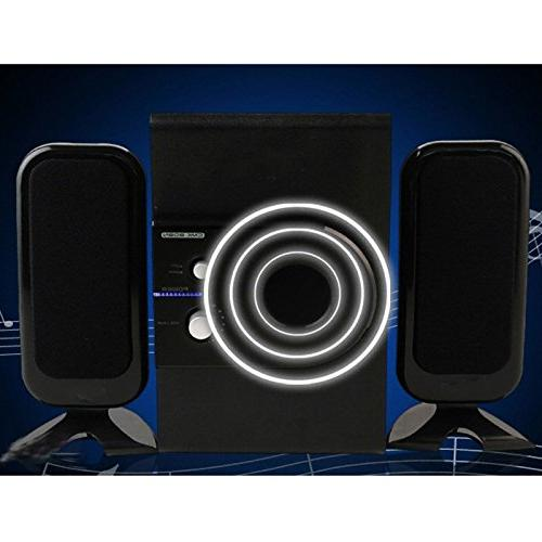 TopePop Computer Speaker Subwoofer Sound Speaker Speakers Home Player for Laptops Gaming Systems Computer