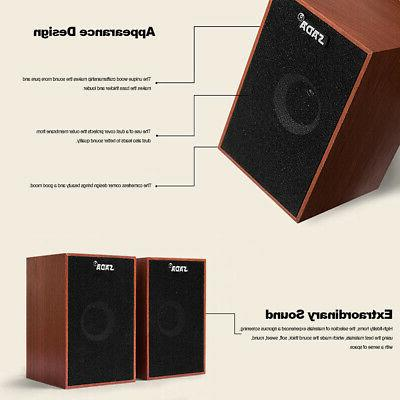 SADA Wired Wooden Computer Stereo for U5B5