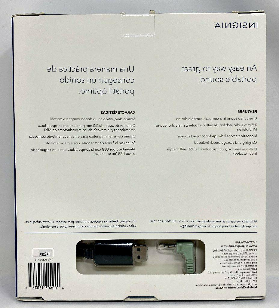 Insignia Powered 3.5 mm Audio Speakers Laptop/Desktop/PC