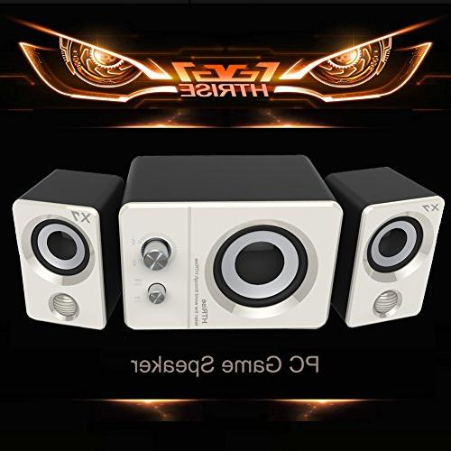 HTRise Speakers for Gaming/Music/Movies, Active Stereo for