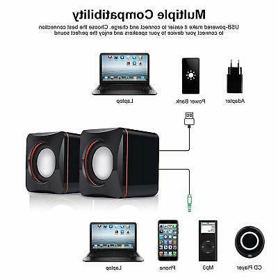 USB PC Mini Speakers Desktop Player