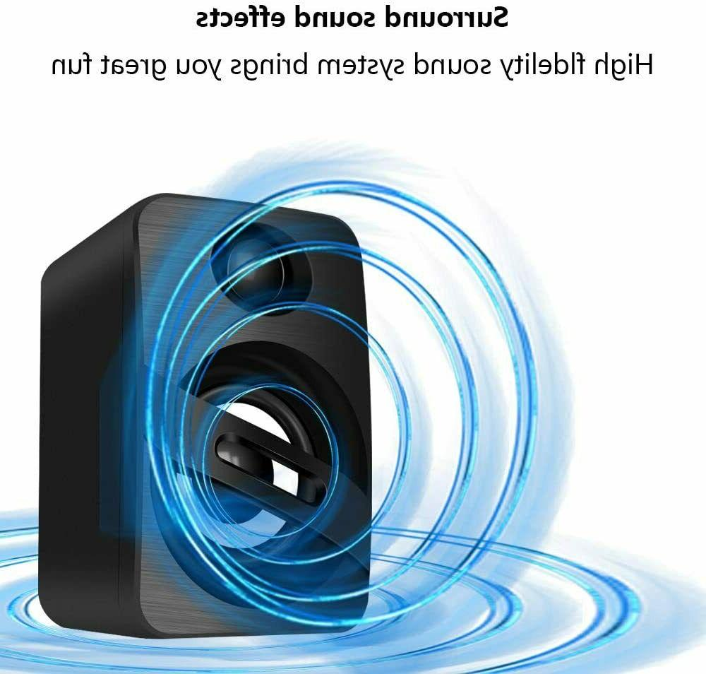 USB-Powered Computer Speaker with Dynamic Sou