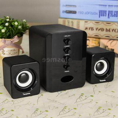 USB 2.1 Computer Speakers 3.5mm Jack Desktop PC