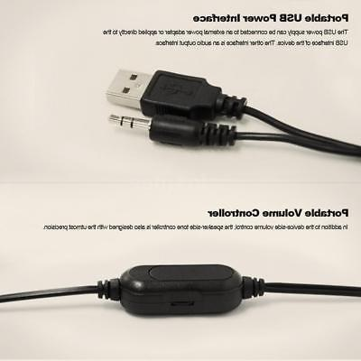 USB Speakers with Subwoofer 3.5mm Jack for Desktop PC