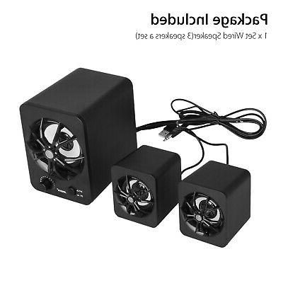 USB Computer Speakers Stereo Super Bass Music For Laptop PC