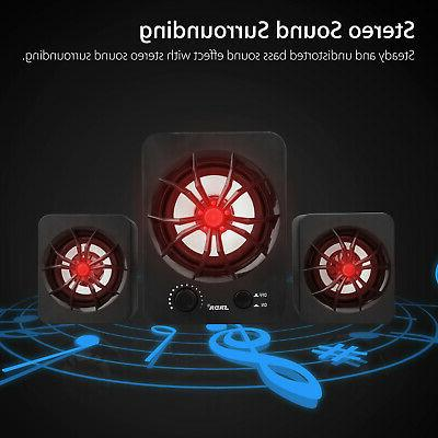 USB Computer Speakers Stereo Super Bass Music PC