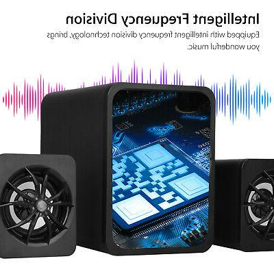 3PCS USB Speakers Stereo Surround Super Music Laptop