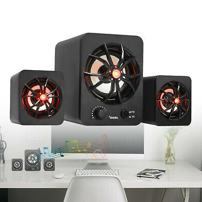 USB Wired Computer Speakers Bass For PC