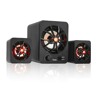 usb wired colorful led computer speakers stereo