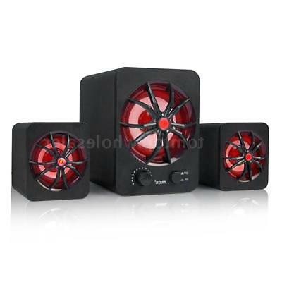 USB Wired Computer Speakers Stereo Bass Music For Laptop PC