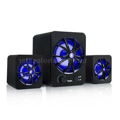USB LED Computer Stereo Bass For Laptop PC