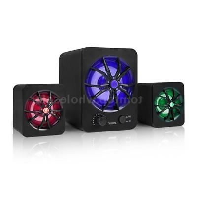 USB LED Computer Stereo Bass Music PC