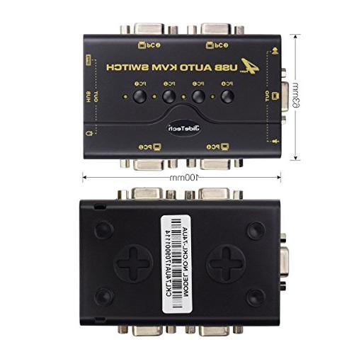 4 USB 2.0 VGA KVM Switch USB for Control