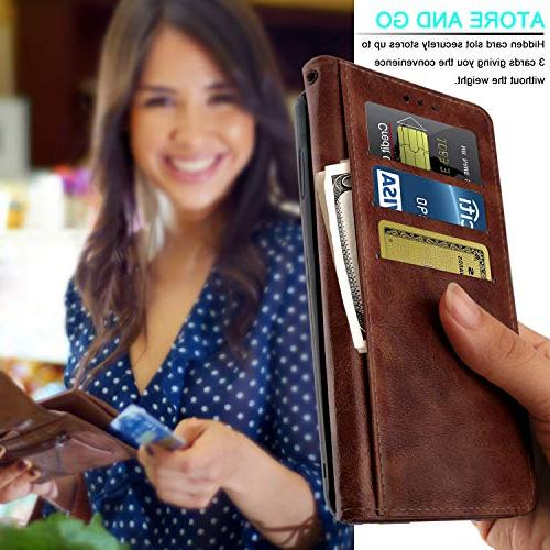Wallet Case for Aristo 3 LTE Dynasty/LG Phoenix Leather Cover with Kickstand
