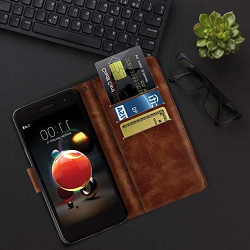Wallet Case for Aristo 2 3 Dynasty/LG Phoenix Leather Protective Phone with