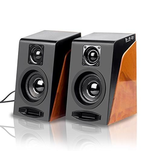 Wired Computer Speakers, Stereo Desktop Ideal for PC, Tablet