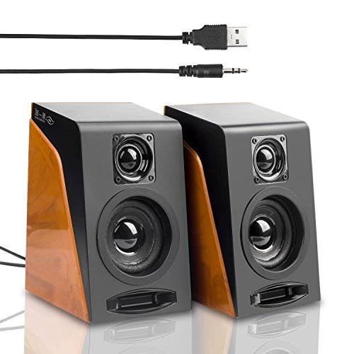 Wired Computer Stereo Speakers with Ideal for Laptop, PC, Desktop
