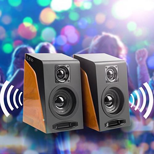 Wired Computer Wired Stereo Desktop Speakers Volume Ideal for Notebook, PC,
