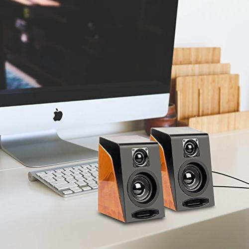 Stereo Bookshelf Speakers with Ideal for PC,