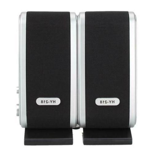 computer pc speakers stereo usb powered desktop